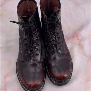 Dr. Martens Shoes - Dr marten dark cherry red boots size 9